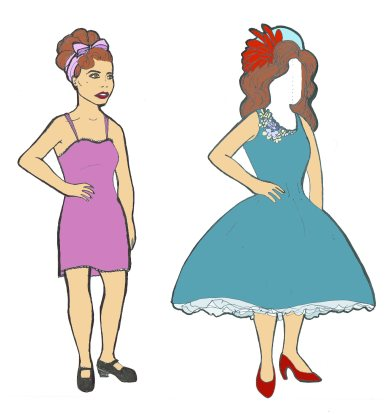 the beginning of a new paper doll